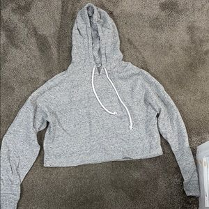 Gray copped hoodie